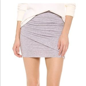 Splendid Ruched Mini Skirt heather Grey small